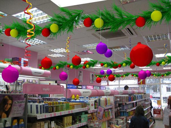 Новогоднее оформление магазинов своими руками фото